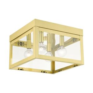 Nyack - 4 Light Flush Mount in Nyack Style - 10.5 Inches wide by 7 Inches high