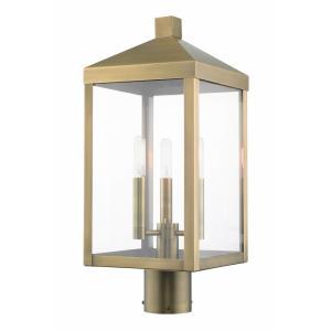 Nyack - Three Light Outdoor Post Top Lantern
