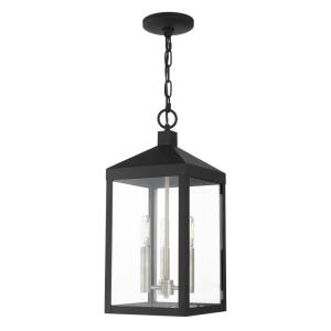 Nyack - 3 Light Outdoor Pendant Lantern in Nyack Style - 8.25 Inches wide by 18.5 Inches high
