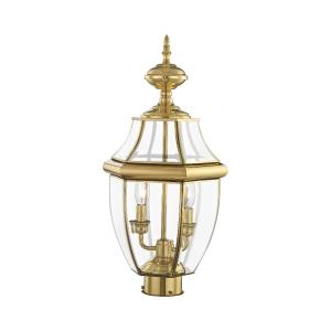 Monterey - 2 Light Outdoor Post Top Lantern in Monterey Style - 10.5 Inches wide by 21.5 Inches high