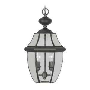 Monterey - 2 Light Outdoor Pendant Lantern in Monterey Style - 10.5 Inches wide by 19 Inches high