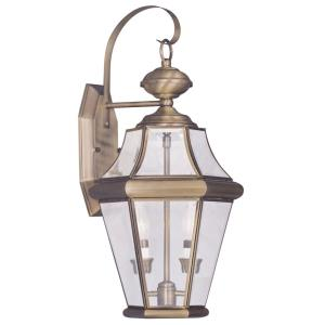 Georgetown - 2 Light Outdoor Wall Lantern in Georgetown Style - 10.25 Inches wide by 20.75 Inches high