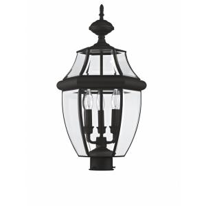 Monterey - 3 Light Outdoor Post Top Lantern in Monterey Style - 12.5 Inches wide by 23.5 Inches high