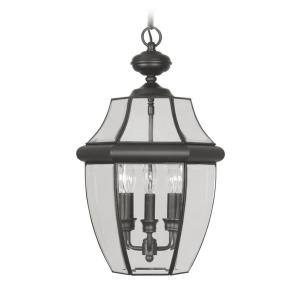 Monterey - 3 Light Outdoor Pendant Lantern in Monterey Style - 12.5 Inches wide by 21 Inches high