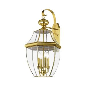 Monterey - 4 Light Outdoor Wall Lantern in Monterey Style - 16 Inches wide by 30 Inches high