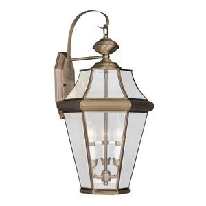Georgetown - Three Light Outdoor Wall Lantern