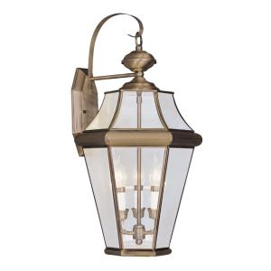 Georgetown - Three Light Outdoor Wall Lantern