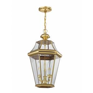 Georgetown - Three Light Outdoor Chain Hanging Lantern
