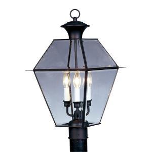 Westover - 3 Light Outdoor Post Top Lantern