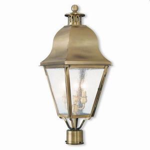 Amwell - Three Light Outdoor Post-Top Lantern