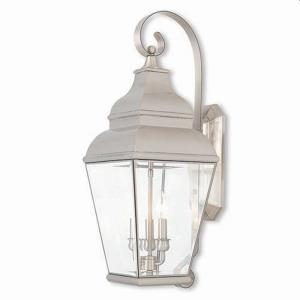Exeter - 3 Light Outdoor Wall Lantern in Exeter Style - 10 Inches wide by 28 Inches high
