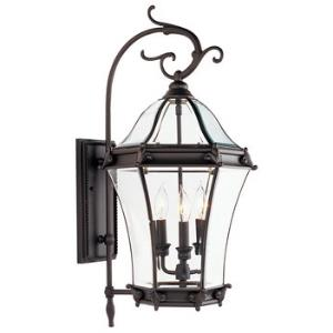 Fleur De Lis - Three Light Outdoor Wall Sconce