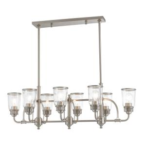 Lawrenceville - 8 Light Linear Chandelier in Lawrenceville Style - 21 Inches wide by 21 Inches high