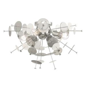 Circulo - 4 Light Flush Mount in Circulo Style - 24 Inches wide by 13.63 Inches high