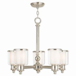 Middlebush - 5 Light Chandelier in Middlebush Style - 25 Inches wide by 21.25 Inches high
