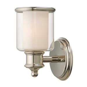 Middlebush - 1 Light Wall Sconce in Middlebush Style - 5.5 Inches wide by 9 Inches high