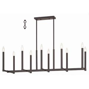 Alpine - Ten Light Linear Chandelier