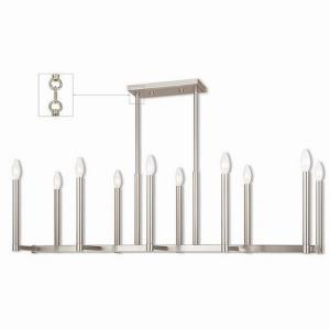 Alpine - 10 Light Linear Chandelier in Alpine Style - 16 Inches wide by 18.5 Inches high