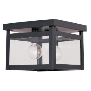 Milford - 2 Light Flush Mount in Milford Style - 8 Inches wide by 6 Inches high