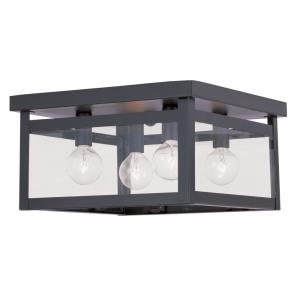 Milford - 4 Light Flush Mount in Milford Style - 11 Inches wide by 6 Inches high