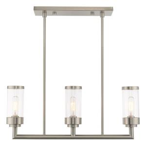 Hillcrest - 3 Light Linear Chandelier in Hillcrest Style - 5 Inches wide by 21.5 Inches high