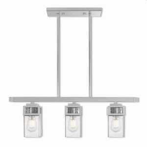 Harding - 3 Light Linear Chandelier in Harding Style - 4.5 Inches wide by 9.5 Inches high