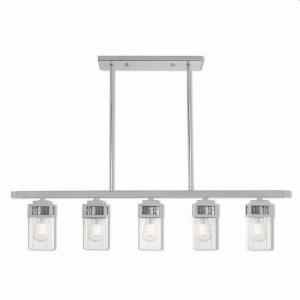 Harding - Five Light Linear Chandelier
