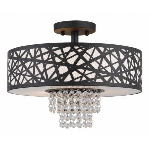 Allendale - 3 Light Semi-Flush Mount in Allendale Style - 14.88 Inches wide by 11 Inches high