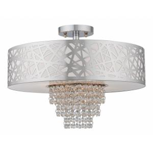 Allendale - 4 Light Semi-Flush Mount in Allendale Style - 18 Inches wide by 13.25 Inches high