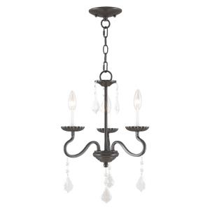 Callisto - 3 Light Mini Chandelier in Callisto Style - 14 Inches wide by 19 Inches high