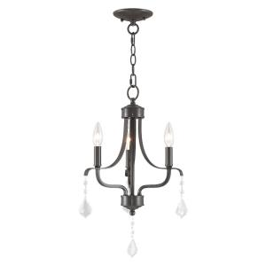 Laurel - 3 Light Mini Chandelier in Laurel Style - 13 Inches wide by 20 Inches high