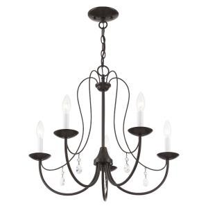 Mirabella - 5 Light Chandelier in Mirabella Style - 24 Inches wide by 20 Inches high