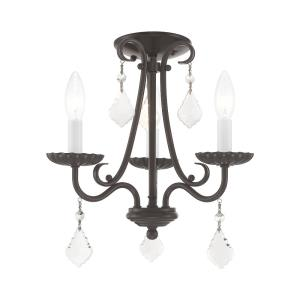 Daphne - 3 Light Mini Chandelier in Daphne Style - 13.88 Inches wide by 14.88 Inches high