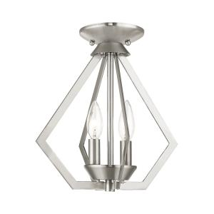 Prism - 2 Light Convertible Mini Chandelier in Prism Style - 11.25 Inches wide by 11.75 Inches high