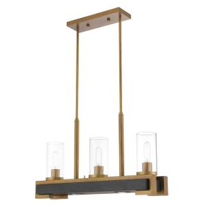 Buttonwood - 5 Light Linear Chandelier in Buttonwood Style - 8 Inches wide by 17.5 Inches high