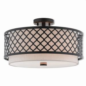 Arabesque - 3 Light Semi-Flush Mount