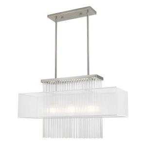 Alexis - 3 Light Linear Chandelier in Alexis Style - 10 Inches wide by 26 Inches high