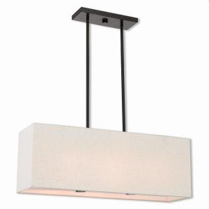 Summit - 3 Light Linear Chandelier in Summit Style - 8 Inches wide by 11.5 Inches high