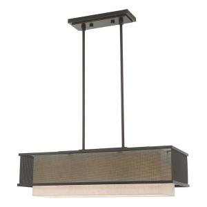 Braddock - 3 Light Linear Chandelier in Braddock Style - 12 Inches wide by 17.25 Inches high