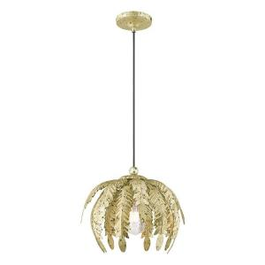 Acanthus - 1 Light Mini Pendant in Acanthus Style - 12.63 Inches wide by 12.25 Inches high