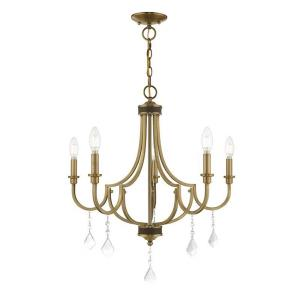 Glendale - 5 Light Chandelier in Glendale Style - 24.5 Inches wide by 26.75 Inches high