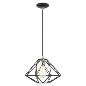 Geometric - 1 Light Mini Pendant in Geometric Style - 13.5 Inches wide by 13 Inches high