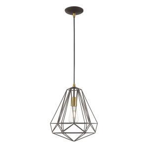 Geometric Shade - 12.25 Inch One Light Mini Pendant