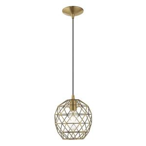 Geometric Shade - 8 Inch One Light Mini Pendant