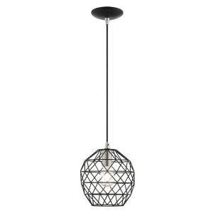 Geometric - 1 Light Mini Pendant in Geometric Style - 8 Inches wide by 13 Inches high