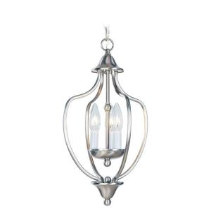 Home Basics - 3 Light Chain Lantern in Home Basics Style - 10 Inches wide by 17 Inches high