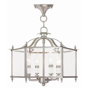 Livingston - 4 Light Convertible Pendant in Livingston Style - 15.5 Inches wide by 13 Inches high