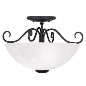 Heritage - 2 Light Semi-Flush Mount in Heritage Style - 15 Inches wide by 9.5 Inches high
