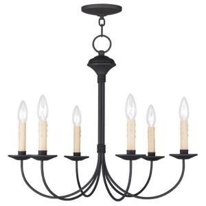 Heritage - 6 Light Chandelier in Heritage Style - 23 Inches wide by 19 Inches high