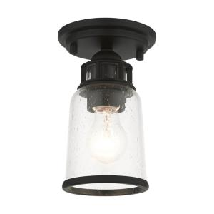 Lawrenceville - 1 Light Flush Mount in Lawrenceville Style - 5.13 Inches wide by 8 Inches high